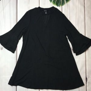 Fleece Bell Sleeves Dress